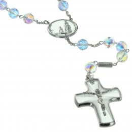 Lourdes rosary made of Silver with Swarovski crystal componenents