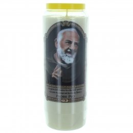 Bougie Neuvaine de Padre Pio 17,5cm