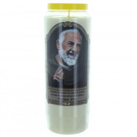 Padre Pio Novena Candle 17,5cm