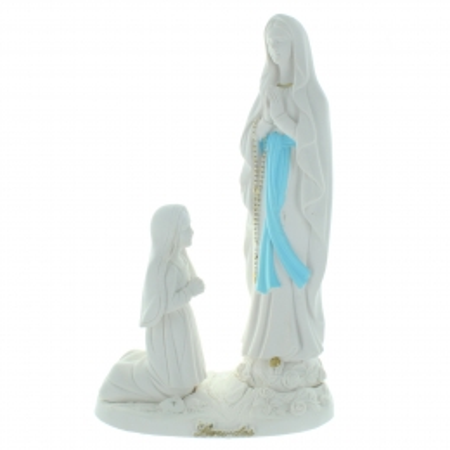 Statue épurée de l'Apparition de Lourdes pour l'extérieur 22cm