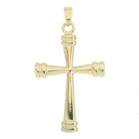 Ciondolo Croce svasata placcata in oro