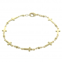 Gold plated Bracelet with tiny crosses