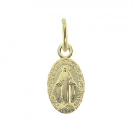 Mini médaille Miraculeuse en Plaqué Or 18 carats