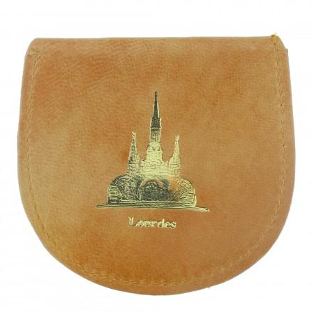 Etui à chapelet de Lourdes en cuir véritable