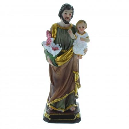 Statue de Saint Joseph décorée 20 cm