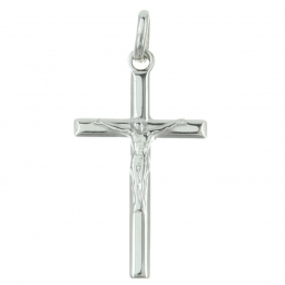 Sterling Silver Cross Pendant and Bevelled Edges