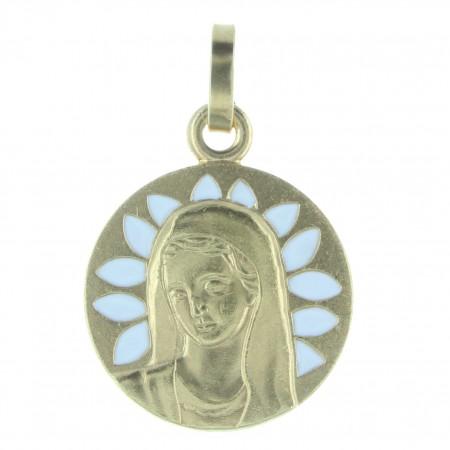 Médaille de la Vierge Marie en métal doré