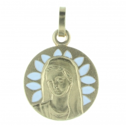 Our Lady of Grace medal gilded  metal
