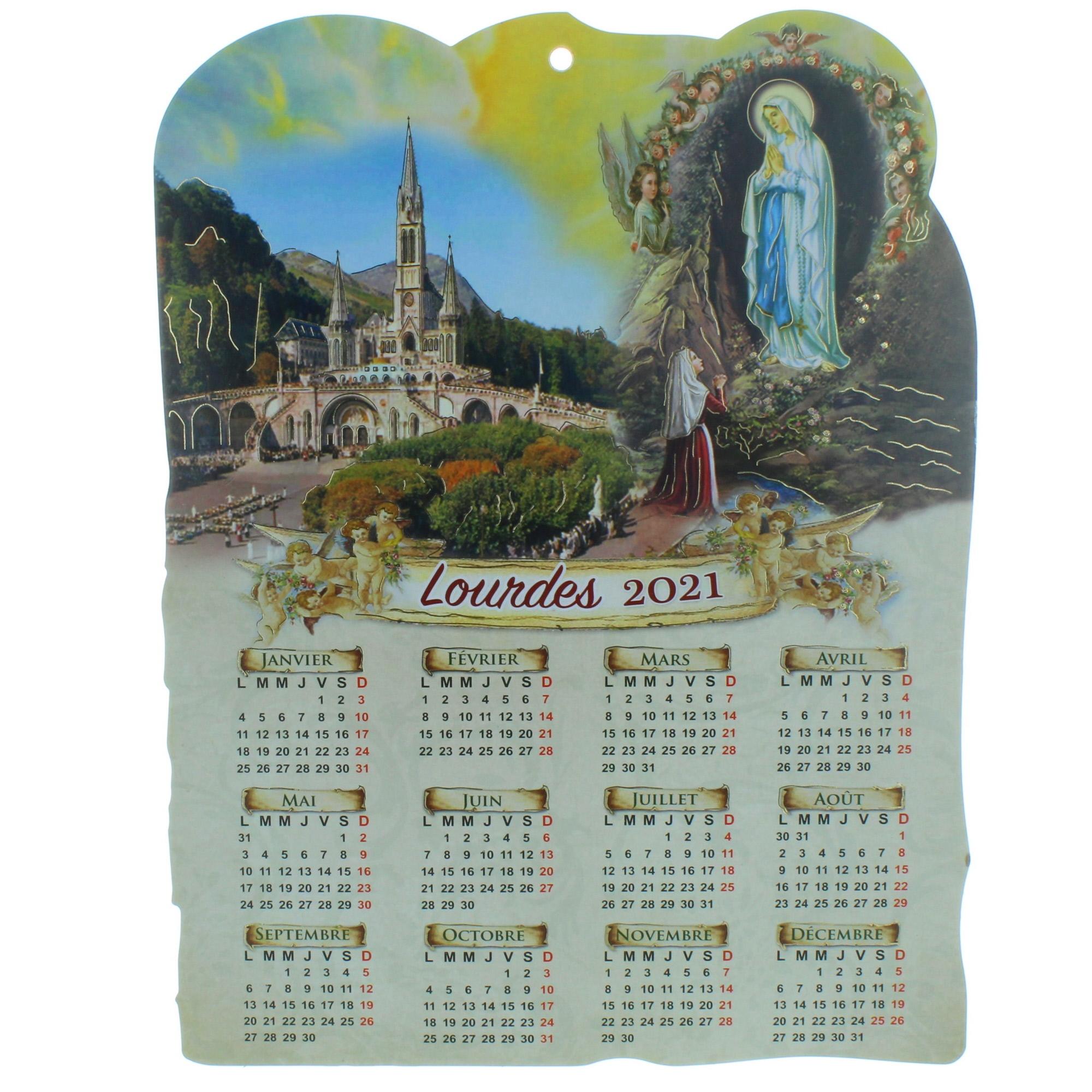 Calendrier Lourdes 2021 Calendrier de Lourdes 2021 en bois