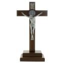 Crucifix de Saint Benoît en bois sur socle 30cm