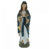Statue de la Vierge Marie en résine avec un voile bleu 30cm