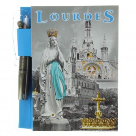 Bloc notes de Lourdes avec stylo