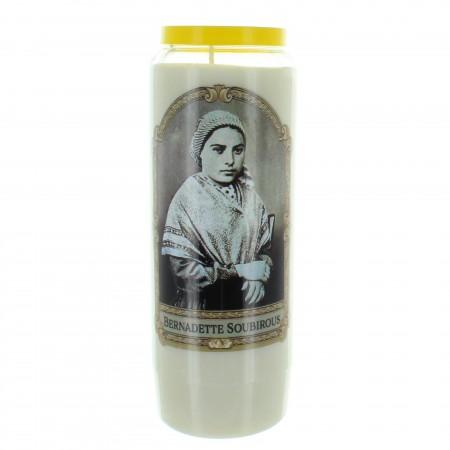 Bougie Neuvaine de Sainte Bernadette 17,5cm