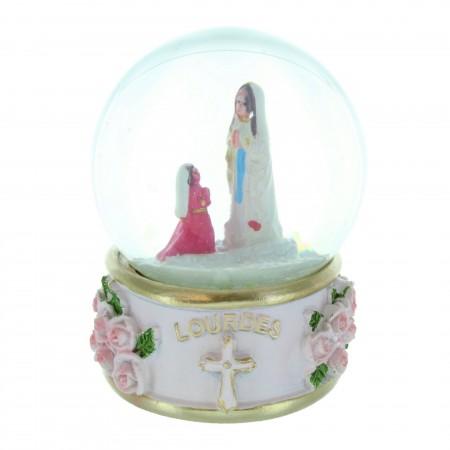 Sfera di neve con l'apparizione di Lourdes