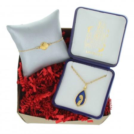 Coffret cadeau religieux de Noël, Mes bijoux de la Vierge Miraculeuse