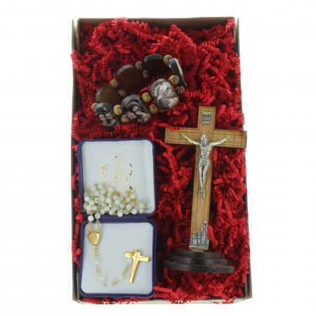 Coffret cadeau religieux de Noël, ma prière pour Lourdes
