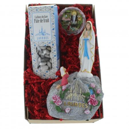 Coffret cadeau religieux de Noël, Vierge Marie de Lourdes