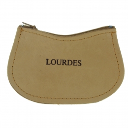 Lourdes leather rosary case with a zip