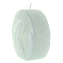 Holy Family White Christmas candle 11cm