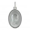 Medaglia d'argento doppia faccia della Madonna e del' apparizione di Lourdes