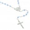 Rosario di Lourdes in argento con perline di cristallo 3mm