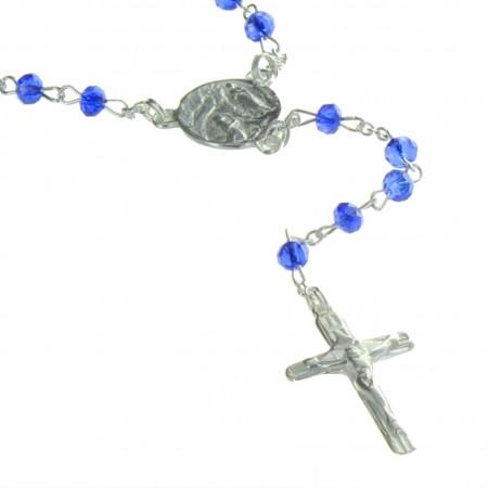Chapelet de Lourdes en Argent avec des grains en Cristal 3mm
