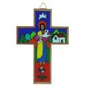 Wooden Crucifix with Jesus Good Shepherd 12cm