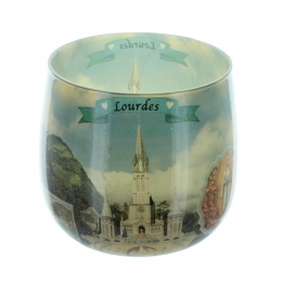 Lourdes rose scented candle in a glass 8cm