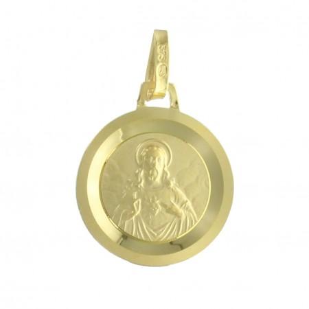 Médaille Scapulaire en Or 9 carats 12mm, 0.87g