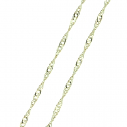 Gold Plated Singapore Link Chain 45cm