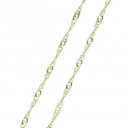 Catena Placcata oro a maglie Singapore 45cm