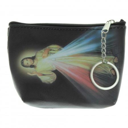 Porte monnaie de Jésus Miséricordieux avec un porte clés
