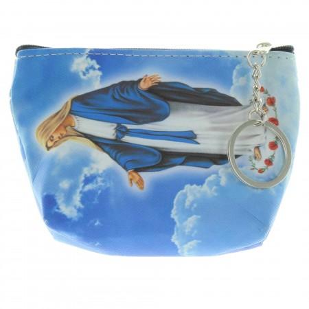 Porte monnaie de la Vierge Miraculeuse avec un porte clés