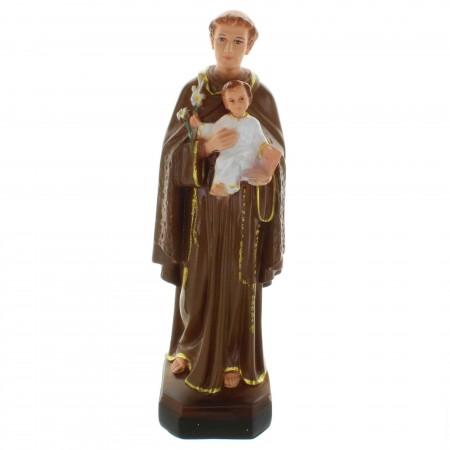 Statue de Saint Antoine en résine décorée 30cm