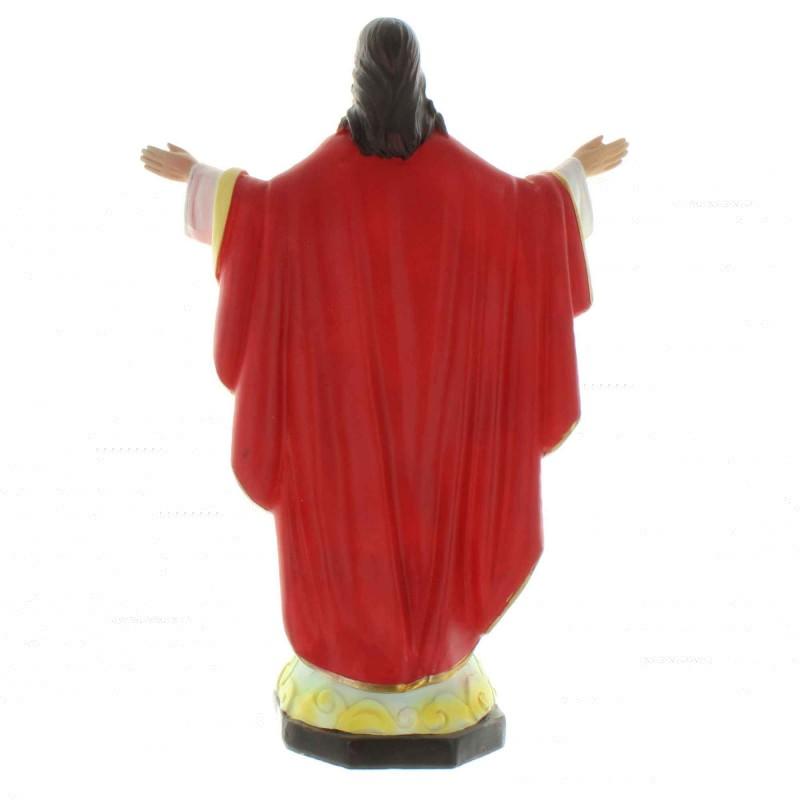 Statue du Christ Redempteur en résine colorée 30cm