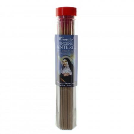 Encens religieux de Sainte Rita, tube de 80 bâtonnets