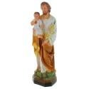 Statue de Saint Joseph décorée en résine 50cm
