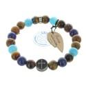 Bracelet religieux avec des pierres naturelles