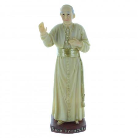 Statue du Pape François en résine colorée 15cm