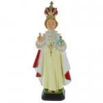 Infant of Prague Coloured resin statue 30cm