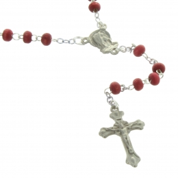 Rose-scented rosary in an oval case