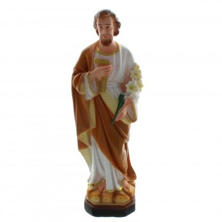 Statue de Saint Joseph charpentier en résine colorée 30cm