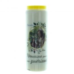 Novena Candle for a healing 17,5cm