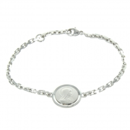 Silver Lourdes Bracelet with double sided medal