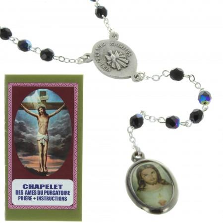 Chapelet pour les Âmes du Purgatoire avec livret de prières