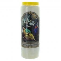 Sleeping Saint Joseph Novena candle 17,5cm