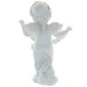 Standing angel resin statue with flowers 22cm