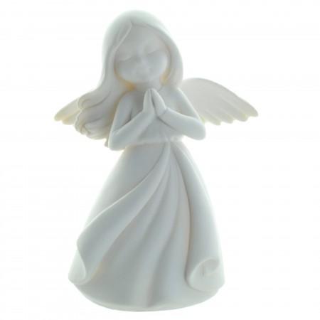 Statue Ange blanc moderne en résine 18cm