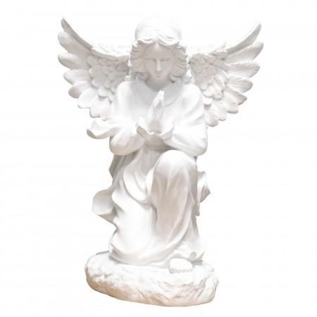 Statue d'Ange priant en résine blanche 50cm