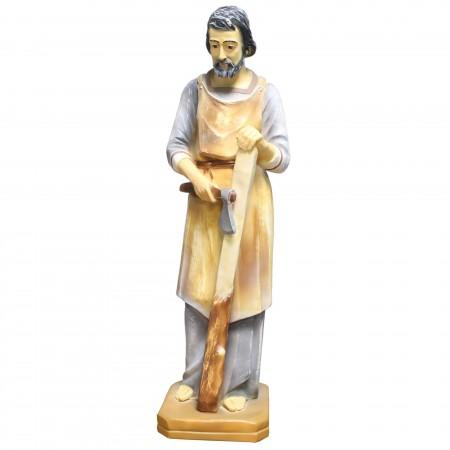 Statue de Saint Joseph charpentier grande taille en résine 80cm